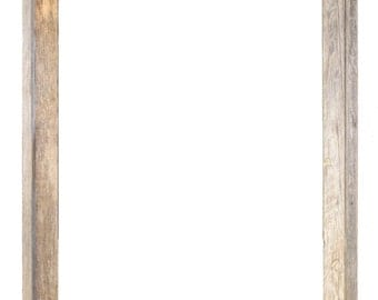 24x30 Picture Frames – Barnwood Reclaimed Wood Signature Open Frame (No Plexiglass or Back)