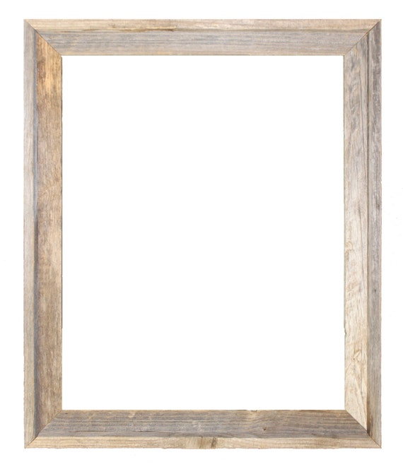 24x30 2 wide barnwood reclaimed wood open frame no glass or