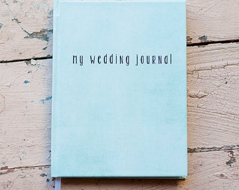Wedding Journal, Notebook, Wedding Planner - Personalized, Customized, gift for bride custom design bridal shower guest book reasons why new