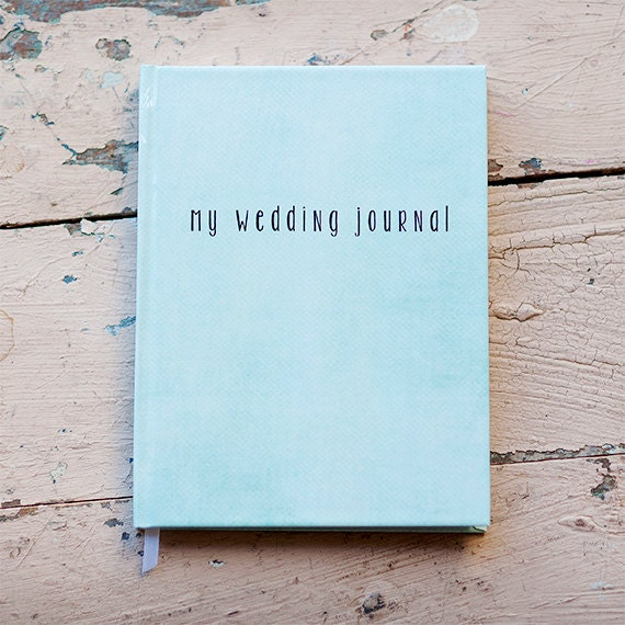 Wedding Journal, Notebook, Wedding Planner - Personalized, Customized, Wedding Date and names, custom design, bridal shower guest book