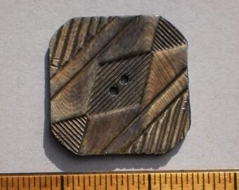 XL Vintage Square Celluloid button