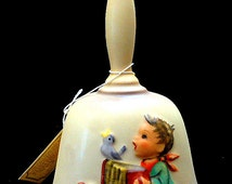 1978 Hummel Goebel Annual Bell | Birthday Gift | Vintage First Edition | Bias Relief Boy with Bluebird