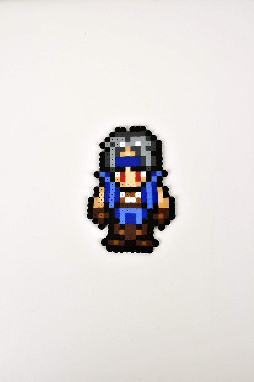 Locke from Final Fantasy VI Magnet Perler Bead Super Nintendo