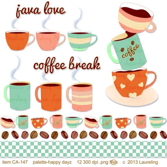 Coffee Themed Clip Art