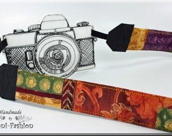 Camera strap, camerastrap, DSLR, colorful patchwork