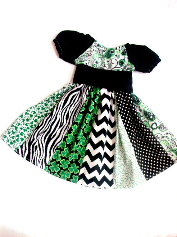 St Patricks Shamrock Dress St Patricks Day Dress Girls