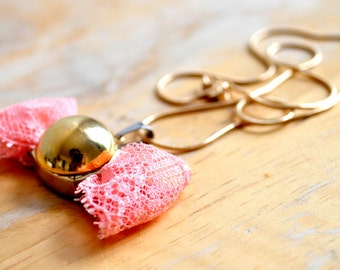 buttercup, bowtie necklace