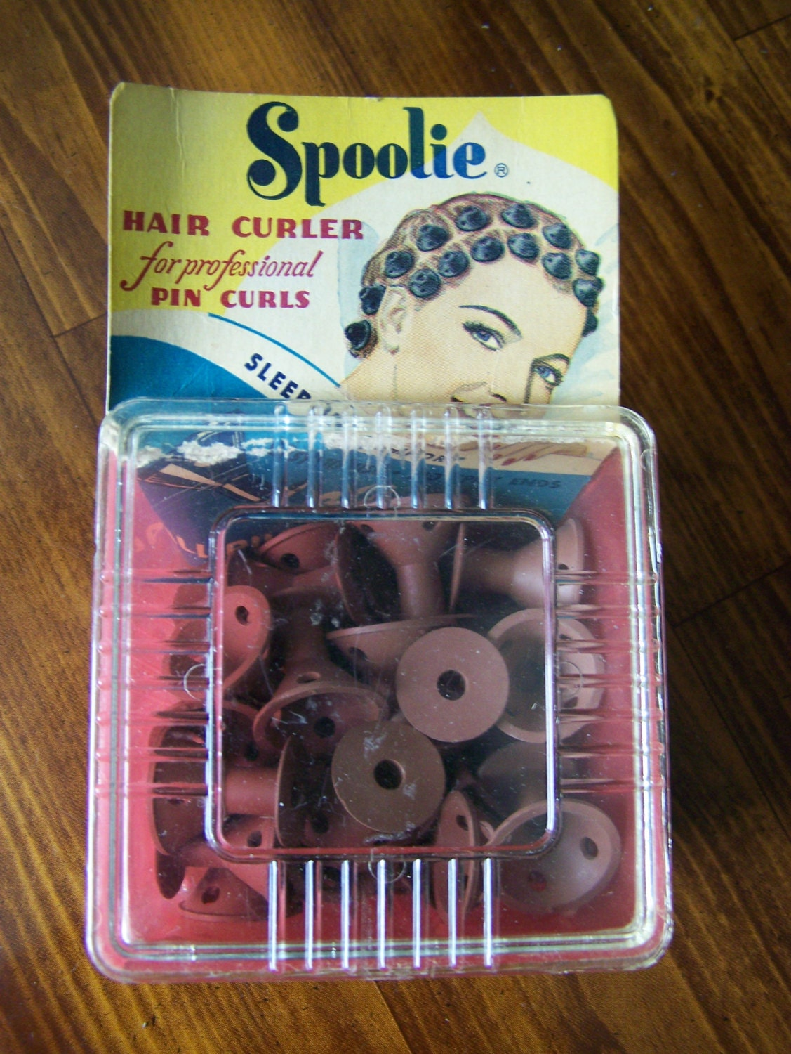 Vintage Spoolies Hair Curlers For Professional Pin Curls