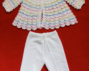 Multi-Color Cascading Ruffle Crochet Outfit