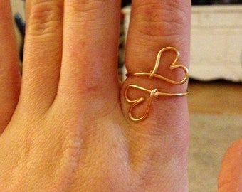 """The """"Double Hearts"""" Ring"""