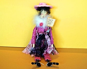 If Not for STRESS... I'd Have No ENERGY at ALL - Whimsical Doll