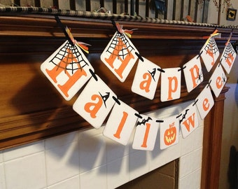 Halloween Decoration Happy Halloween Banner Fall Decoration Garland Photo Prop Halloween Party Decor