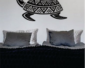 Turtle Design 2 Decal Sticker Wall Vinyl Animal Tribal Art