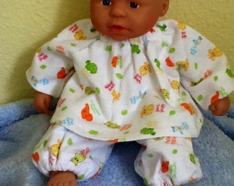 Flannel brushed cotton 12 - 14 inch baby doll or Waldorf doll clothing