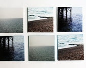 Blank Note Cards - Blank 2x2 Mini Cards, Handmade Photography Note Cards, Gift Tag Cards, Thank You Cards - Blue Ocean Water Cards, Set of 6