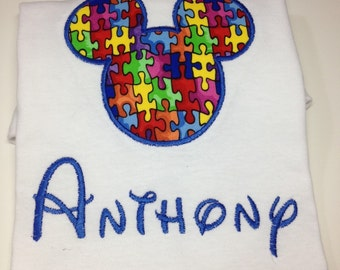 Autism Awareness Disney Shirt - Personalized - Youth