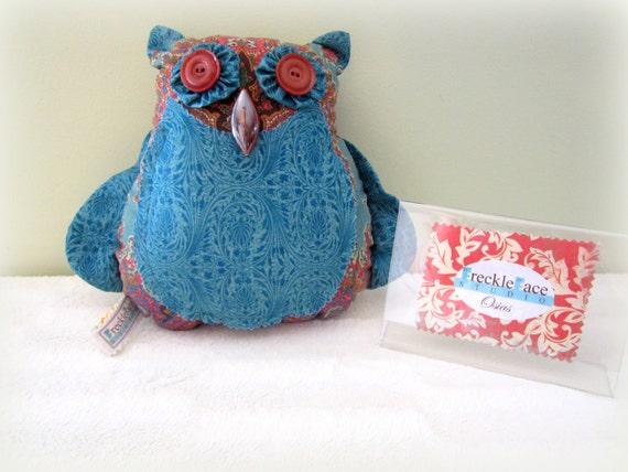 CLEARANCE SALE Osias the Owl Stuffed Owl Stuffed Animal