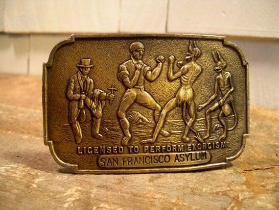 Belt Vintage Vintage Brass Belt Buckle