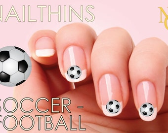 SOCCER  Nail Decal Nail Art  Nail Design NAILTHINS