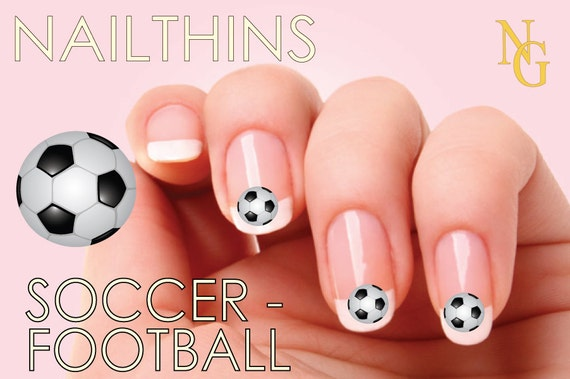 - SOCCER Nail Decal Nail Art Nail Design NAILTHINS