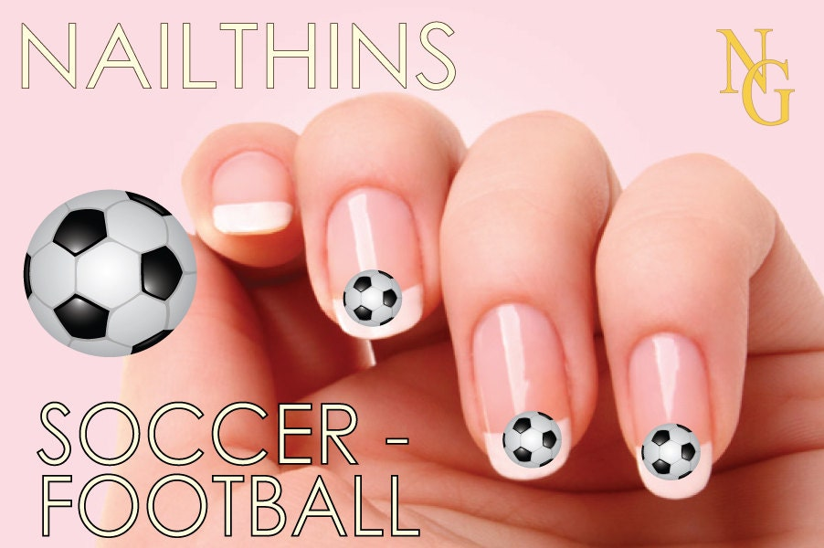 Soccer Nail Decal Nail Art