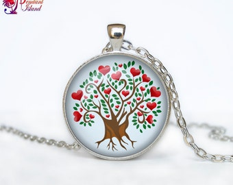 Heart Tree pendant Love Tree necklace Heart Tree of life jewelry nature pendant Woodland jewelry