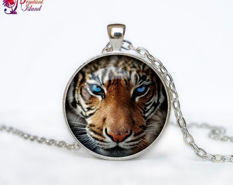 Tiger Necklace, Tiger Pendant tiger jewelry  Pendant Art gift for men for women