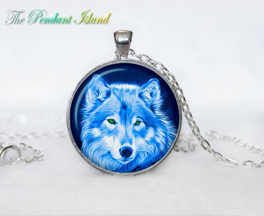 wolf pendant wolf necklace wolf jewelry loyalty necklace