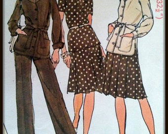Simplicity  6514  Misses'  Unlined Jacket, two-piece Dress and Pants    Size  10  Uncut