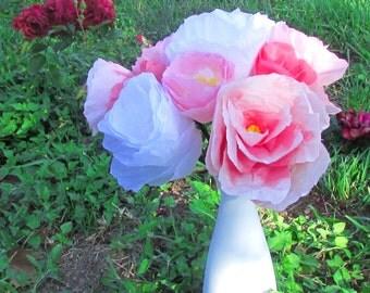Pink Peony Bouquet - Paper flower bouquet - Paper bouquet