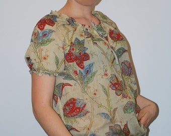 Tina blouse size12UK in soft cotton voile