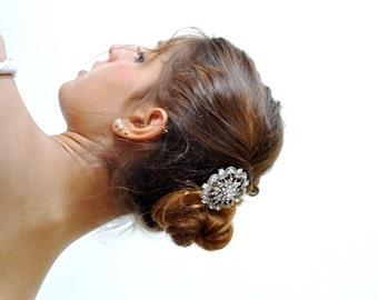 BRIDAL HAIR COMB , Rhinestone hair comb, diamante headpiece, Rhinestone bridal comb, crystal wedding jewelry ,Wedding Jewel Comb