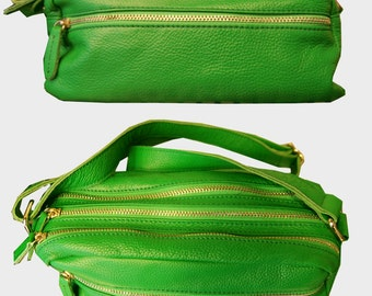 Platinum Purse in Bold Green