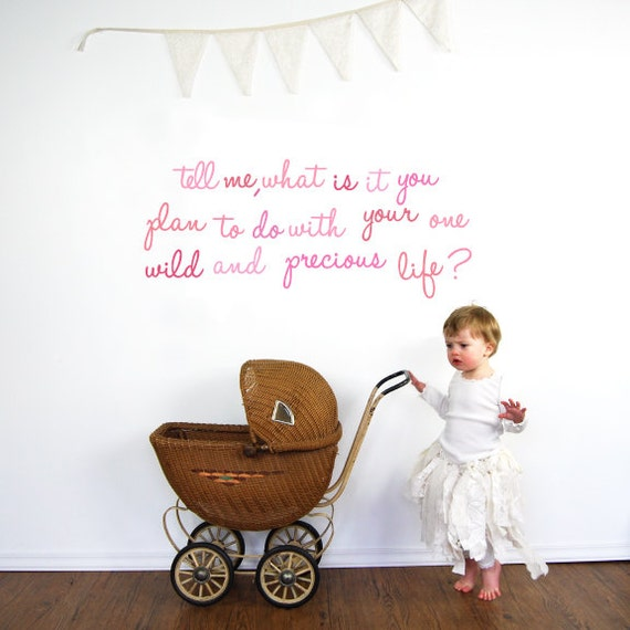 Wall Decals Quote - Wild and Precious Fabric Wall Decals
