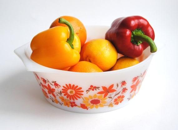 Arcopal casserole ovenproof vintage salad bowl midcentury