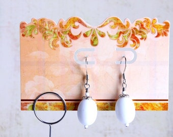 punched earring card set of 15 peach buff
