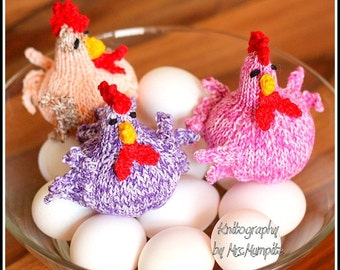 Spring Chicks Knitting pattern suitable for beginners - PDF download, cute spring and easter DIY decoration