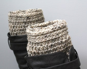 Beige boot toppers,white boot cuffs,oatmeal boot cuffs,oatmeal legwarmers,oatmeal boot liners,white boot socks,cream boot socks,boot topper