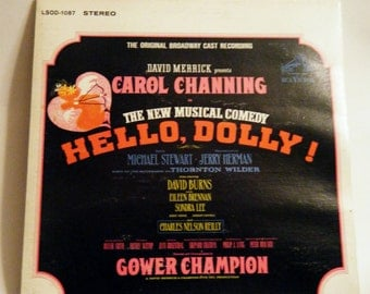 David Merrick presents Carol Channing - The New Musical Comedy Hello, Dolly LP (US - 1964)