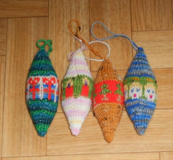 Christmas ornament knitting pattern Knit by CuteCreationsByLea