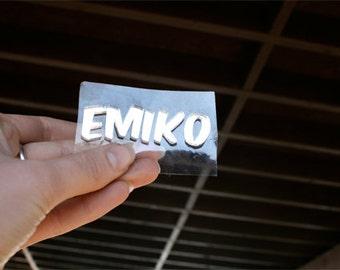 Custom Marker Font Letter (laser cut acrylic)