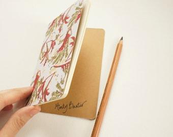 Mini journal covered with Kangaroo Paw paper