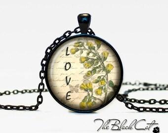 Vintage Flowers pendant Vintage Flowers jewelry Vintage Flowers necklace (PVF0007)