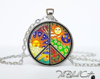Sign Peace necklace peace jewelry peace pendant gift Hippie necklace Hippie pendant Hippie jewelry