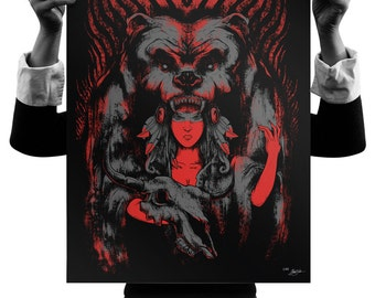 The Huntress 18x24 Silk Screen Print
