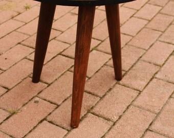 walnut root mid century table