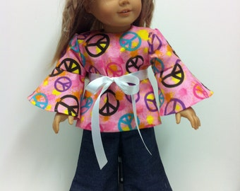 "70's Style (Pink) - Fits 18"" American Girl Doll and all other 18"" Dolls"