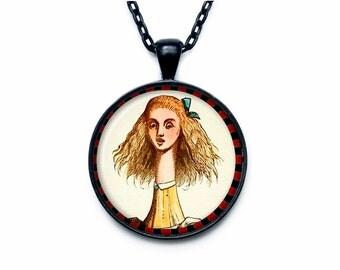 Alice in Wonderland necklace Alice in Wonderland Jewelry, Alice Pendant Necklace, Alice in Wonderland Necklace, Fairytale Necklace