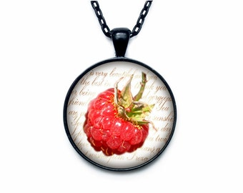 Raspberries necklace Raspberries necklace pendant Raspberries jewelry fruit necklace