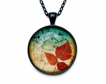 Autumn Leaf Necklace Autumn Leaf pendant Fall Leaves Forest Jewelry